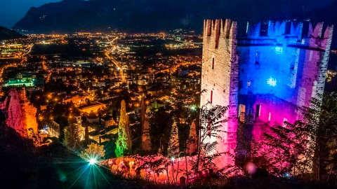 PROLIGHTS lit up the beautiful Castle of Arco