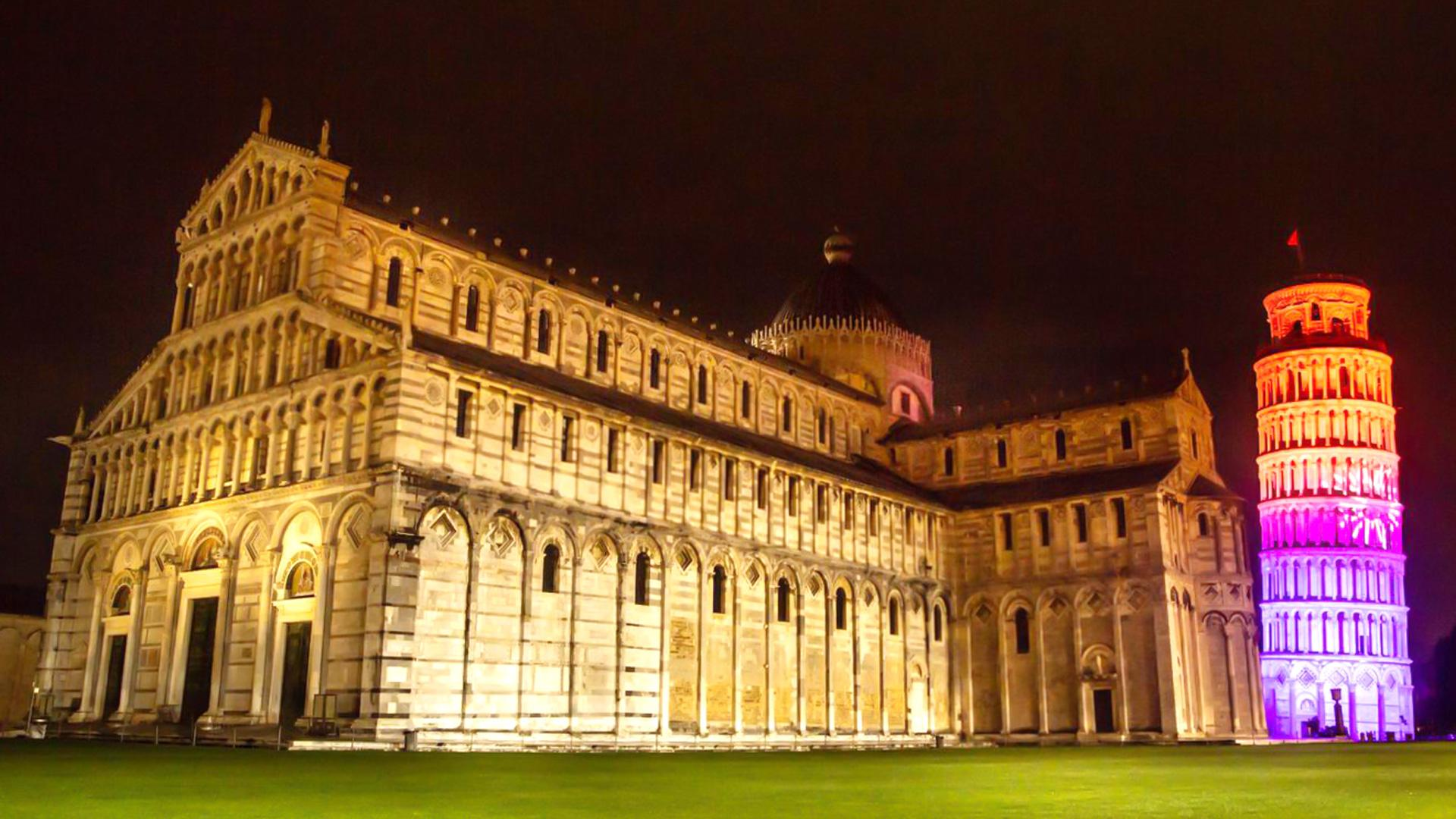 PROLIGHTS used to light up Italian landmarks